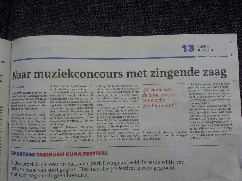 Nieuwsblad van het Noorden 11-7-2014