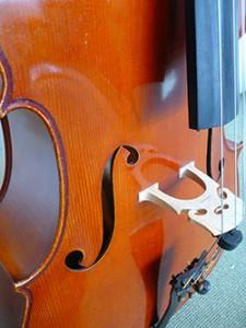 Mijn akoestische cello Gebouwd door Serge Stam in 1984 te Utrecht.