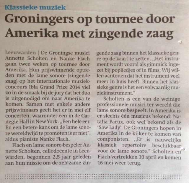 FrieschDagblad 27 januari 2015