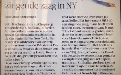 Nederlandse Zingende Zaag in NY