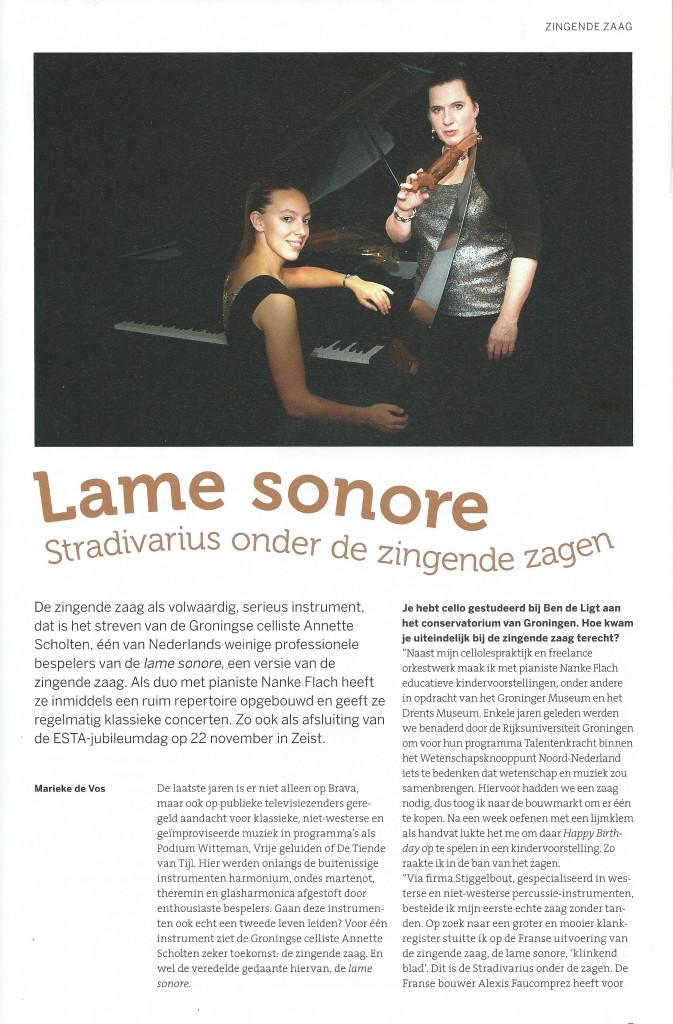 Artikel in Strijkersmagazine Arco