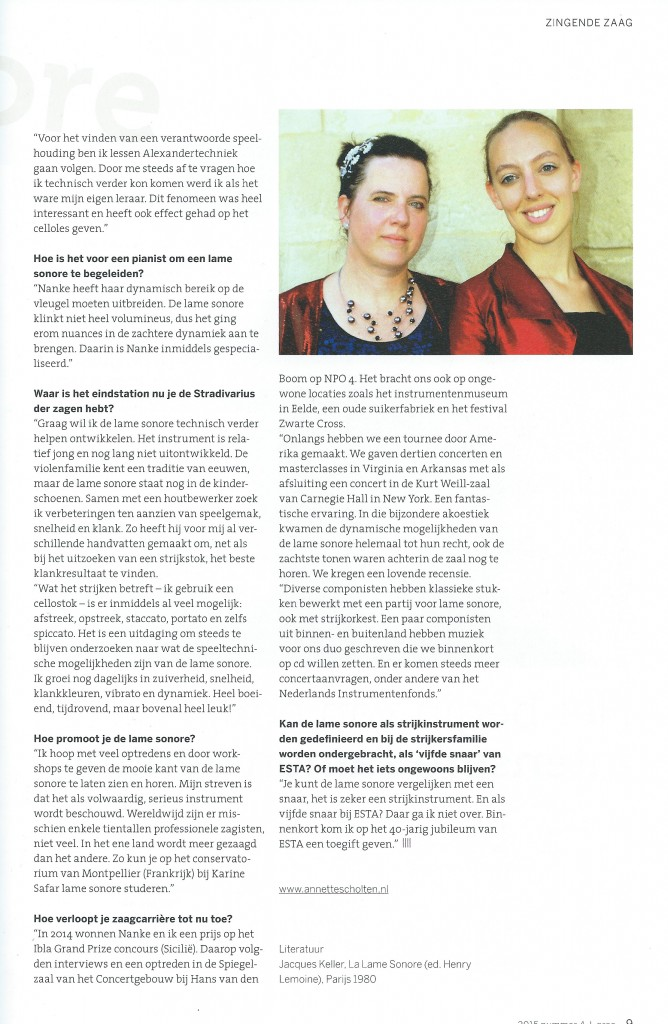 Artikel Strijkersmagazine Arco (ESTA Nederland)