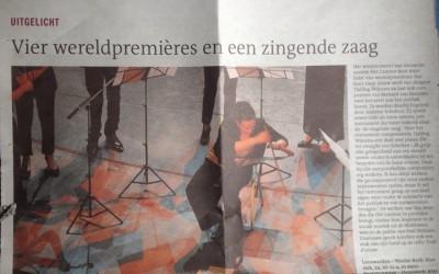 Vier wereldpremières mogen spelen in één concert