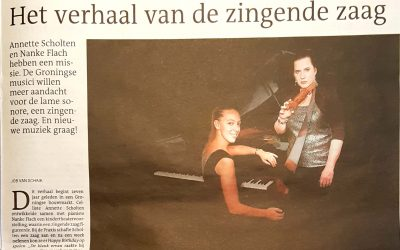 Artikel over debuut cd 'Angelo' in het DvhN en Leeuwarder Courant